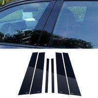 Автоаксессуары окна средней колонке столп Черная пленка Защитная крышка Обрезка наклейки украшения для BMW 5 Series G30 2017-2020