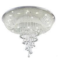 جديد الحديثة كريستال الثريا ل غرفة المعيشة اللوبي الكريستال مصباح الإضاءة المنزلية الفاخرة أدى لماعة دي كريستال