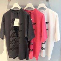 2020 Erkek Tasarımcı tişört High Street Tide Marka We11done Mektupları Logo Baskılı Yuvarlak Yaka Gevşek Kısa kollu Kadınlar Avrupa ve Amerika