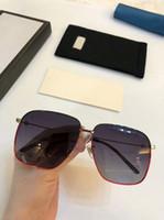 جديد الموضة للنساء النظارات الشمسية 0394 الرجال النظارات الشمسية بسيطة والرجال السخي نظارات الشمس في الهواء الطلق نظارات حماية UV400 مع حالة