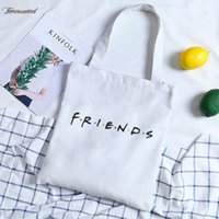 Friends Letter Print Shoulder Canvas Bags Harajuku Fashion L...