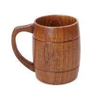 Drewniana kubek Belly Piwo Puchar Kubki Dwukierniej Klasyczna Drewniana Kubek Drewno Rzeźbione Ekologiczne Kuchenne Kuchnia Kuchnia Akcesoria