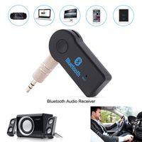 Universal voiture Bluetooth stéréo stéréo Auto Kit de 3,5 mm A2DP A2DP Aux Musique Aux Music Adaptateur Adaptateur mains libres pour casques Téléphone