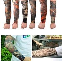Falso multi stile di nylon trasparente elastico tatuaggio temporaneo manica del braccio del corpo del manicotto di Tatoo per freddo unisex del manicotto protettivo CCA9915 500pcs