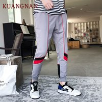KUANGNAN Striped Pencil Pants Herren Bekleidung 2018 Hip Hop Jogger Herren Hosen Japanese Streetwear Casual XXL Sweatpants