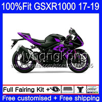 Injectie voor Suzuki GSX R1000 K17 GSX-R1000 GSXR Appartement Paars 1000 331hm.78 L7 L8 GSXR-1000 GSXR1000 17 18 19 2017 2018 2019 OEM Fairing