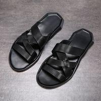 2020 nuova estate sandalo scarpe scarpe di cuoio strato superiore della spiaggia degli uomini fasion casuali traspirante antiscivolo suola morbida sandalo uomini