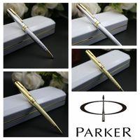 Libre Stationery Office Supplies envío Material escolar Bolígrafo Escuela pluma Parker Sonnet pluma de plata en color oro plumas Clip