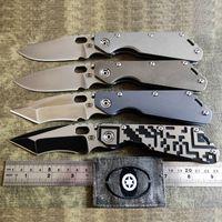 OLHOS MAUS personalizados Strider Knives MSC SMF faca dobrável Pesadelo Moer M390 Lâmina completa Titanium alças Ferramentas EDC Ar Livre Survival táticos