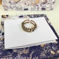 D home / Dijia carta ja anel anel aberto feminino material de bronze moda Índice Pérola dedo