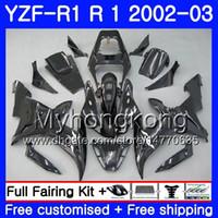 Bodys för Yamaha YZF-1000 YZF R 1 YZF R1 2002 2003 Bodywork 237HM.39 YZF 1000 YZF-R1 02 YZF1000 Ram YZFR1 02 03 Fairing Black Factory Hot