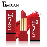 Dropship TEAYASON Lápiz labial mate impermeable para las mujeres Batom de larga duración Batom Bálsamo de terciopelo rojo oscuro Rouce a Levre Maquillaje natural Lipstick 12color