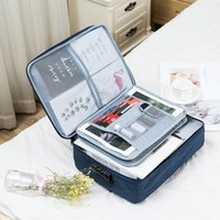 Waterproof Multi-layer Document Storage Bag Women Business Travel Organizer Case Office Data Collect Finishing Pouch Accessories