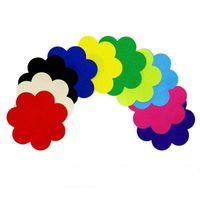 10 ألوان زهر الشكل الحلمة سلامة وحماية البيئة تغطي ملصقا وسادة الثدي T- تيت الشريط 200pairs غطاء