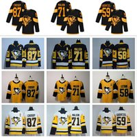 2020 Pittsburgh Penguins Jersey 87 Sidney Crosby 71 Evgeni Malkin Phil Kessel Kris Letang Lemieux Madt Murray Guentzel Hóquei Jersey
