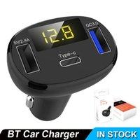 C02 자동차 MP3 오디오 차량용 키트 FM 핸즈프리 타입 C QC3.0 차량용 충전기 듀얼의 USB 스마트 폰에 대한 자동차 충전기