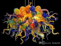 Современный Brillian многоцветные ручной выдувное стекло Люстра Свет декоративного повешение Кристалл искусство Цветных люстр из муранского стекла