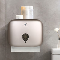 CHUANGDIAN Wall Mounted Tissue Dispenser Mão Toalha Dispenser nenhuma perfuração de suspensão Toilet Paper Titular Hotel Bathroom Organizador Y200328