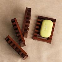 Retro Natürliche Holz Seifenschalen Seifenschale Holzhalter Dusche Badezimmer Zubehör Drain Rack Home Supplies Badezimmer Zubehör