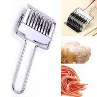 Acciaio inossidabile Noodle rullo della grata Scalogno tagliapasta Spaghetti macchina pastaio manuale pasta Press strumenti di cottura