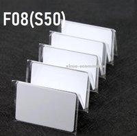Carte RFID Pure White 13.56Mhz MFS50 réinscriptible proximité cartes à puce ISO14443A Cartes NFC F08 PVC Carte 0.8mm pour contrôle d'accès