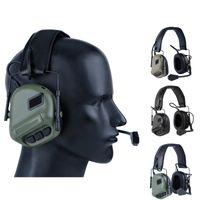 Airsoft Çekim Kulaklık Kulaklık Mikrofon Taktik Kulaklıklar Kullanımı PTT Kulaklık Çekim Avcılık Aksesuarları K1440G