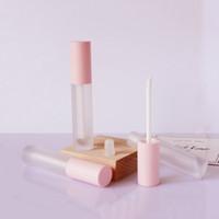 5ml Großhandel DIY leeren Lippenbalsam Gloss Schlauch Container-Rosa-Farbe Lippenpflege Flasche Lipgloss Container, leeren Kosmetikverpackungen Lippenpflege Schlauch