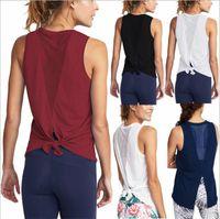 Vestiti per le donne Fitness Canotti Yoga Sport estivi Top senza maniche Solid Tees Moda Camis Casual Camicette allentate Blusas Costume Abiti B4544