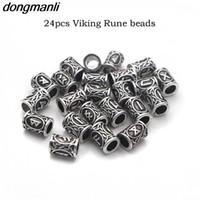 P4 Top Gold Norse vichinghe Runes Charms risultati dei branelli per i braccialetti per la collana della barba o capelli Ciondolo Vikings Rune Kit