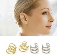 Knorpel-Ohrclip Nicht Piercing U-Form Gold / Silber überzogener Knorpel-Ohr-Clip-Ohrmanschetten-Ohrringe sowohl für Männer als auch für Frauen