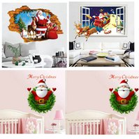 Retail Kids Christmas Santa 3D wall stickers bedroom living ...