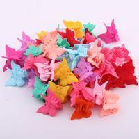 Haar-Zusätze Mini-Haar-Greifer für Baby-multi Farben-Plastikhaar-Clip Schmetterlings-Entwurf für Kinder
