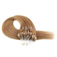 VM Micro Loop Ring Extensions 100% необработанные девственницы перуанские человеческие волосы шелковистые прямые микро-петли 1 г / прядь 100 / пакет волос VMAE