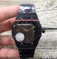 4 스타일 고품질 남성 시계 41mm 근해 다이버 15400 블랙 PVD 케이스 아시아 투명 기계 자동 망 시계 남자의 시계