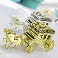 1pcs 신데렐라 캐리지 웨딩 부탁 상자 사탕 상자 카사 멘토 웨딩 부탁 및 선물 이벤트 파티 용품