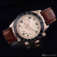 relogio masculino mens orologi Luxury fashion designer designer orologio da polso Calendario oro Bracciale in pelle Master Maschio orologio 2017 regali amanti