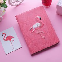 2019 Hot Design Flamingo 3D embroidery Tablet TPU Leather Ca...