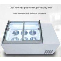 190W de escritorio helados vitrina congelador comercial de bebidas frías tienda almacén armario supermercado exposición de helado