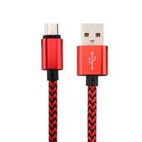 Micro USB Type C 1M 3FT 2.0A Saluto intrecciato di alluminio del metallo del caricatore Cavo adattatore di nylon filo intrecciato cavo per 200PCS Smart phone
