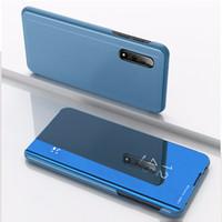 Smart Mirror Wallet Kickstand Flip Téléphone Coque pour Xiaomi 10T Lite 10T Note10 Pro Redmi Note9T K30S V30 V20