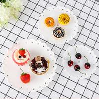 YENI 3 Tier Plastik Kek Standı Tutucu İkriya Çay Tatlı Meyve Kademe Standı Düğün Plaka Üç Katmanlı Kek Raf Mutfak Aletleri T2I5706