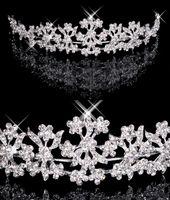 Волосы Диадема На складе Дешевого Алмазного Rhinestone Свадебной корона диапазон волосы тиара Bridal выпускной вечер ювелирных украшения для волос 18027