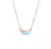 Collar de piedra de estilo Kendra forme el pequeño óvalo facetadas de cristal dicroico para la Mujer