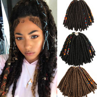 18 Zoll Dreadlocks Faux Locs flicht Mit Color Line Hair Extensions Synthetic Dreadlock Jumbo 10 Stränge / Packung Synthetic Flechthaar