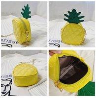 Çocuklar çanta Çocuk 2019 PU deri meyve omuz çantası sevimli ananas, mini lüks tasarımcı çanta kızlar çocuklar çanta ceset torbaları çapraz