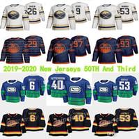 Edmonton oilers 셋째 97 Connor McDavid 보스턴 Bruins 37 Patrice Bergeron 밴쿠버 Canucks 40 Pettersson Hockey Jerseys