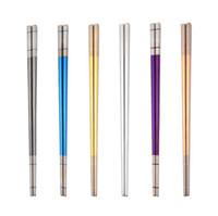 Глянцевые титановые палочки для титана 6 цветов 304 палочки из нержавеющей стали 304 европейские американские популярные стили нескользящие палочки для палочек нового прибытия