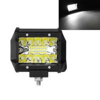 4Inch 60W 2400LM Tri-Row LED Arbeitslicht Bar Combo Nebel Fahren Weiß für Offroad Truck Boat ATV