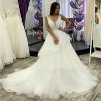 Elegant Princess Ball Gown Wedding Dresses Lace Appliques Il...