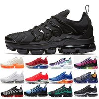 Nike Air Max Vapormax TN Plus Olive para hombre Zapatillas deportivas Hombres Run Metallic White Silver Colorways para Male Shoe Pack Triple Black US SZ7-11